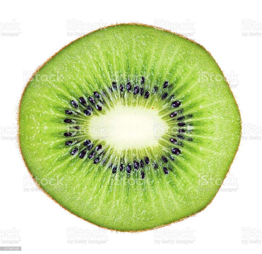 Sliced kiwi fruit macro royalty-free stock photo