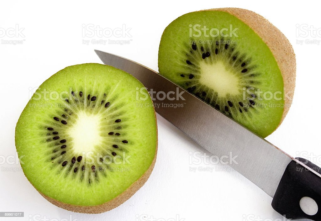 Sliced Kiwi Fruit stock photo