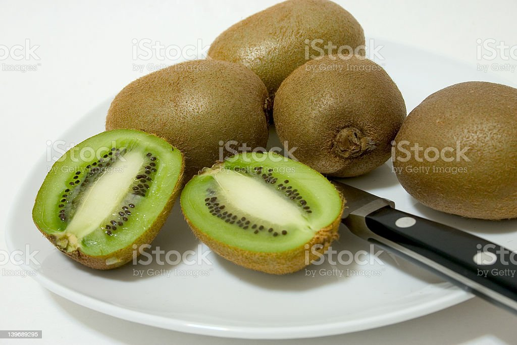 Sliced Kiwi royalty-free stock photo
