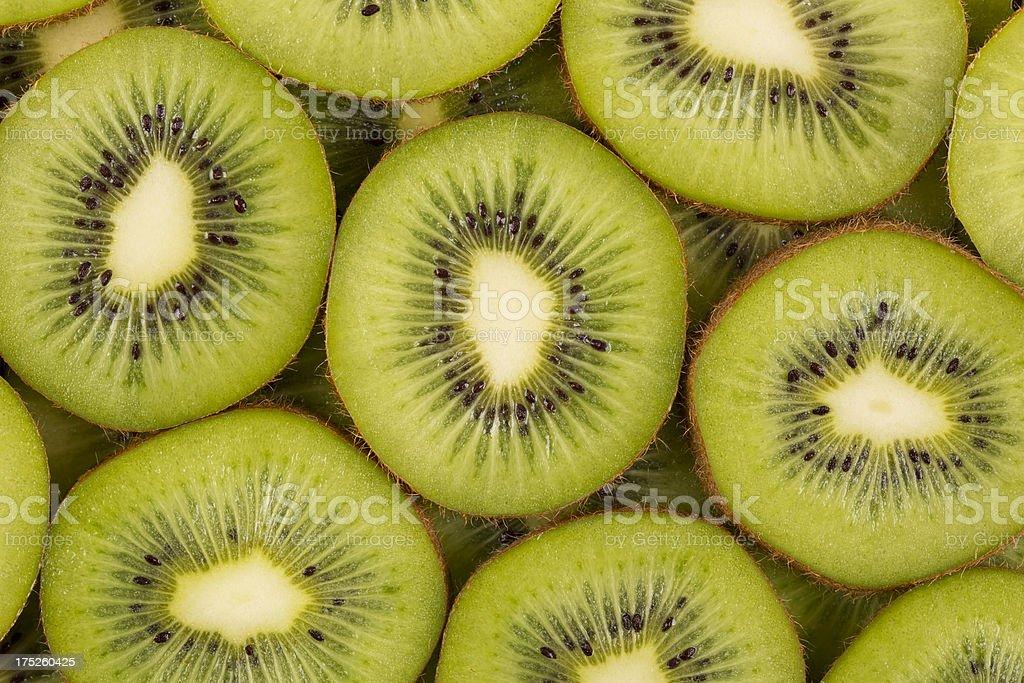sliced kiwifruits royalty-free stock photo