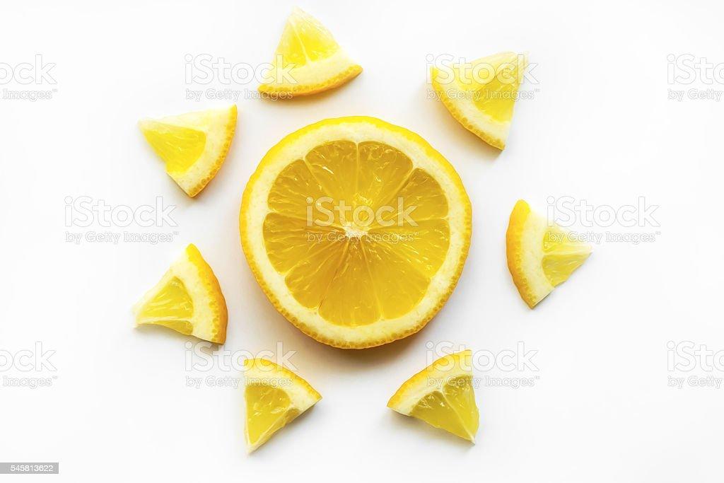 Fatias de limão foto de stock royalty-free