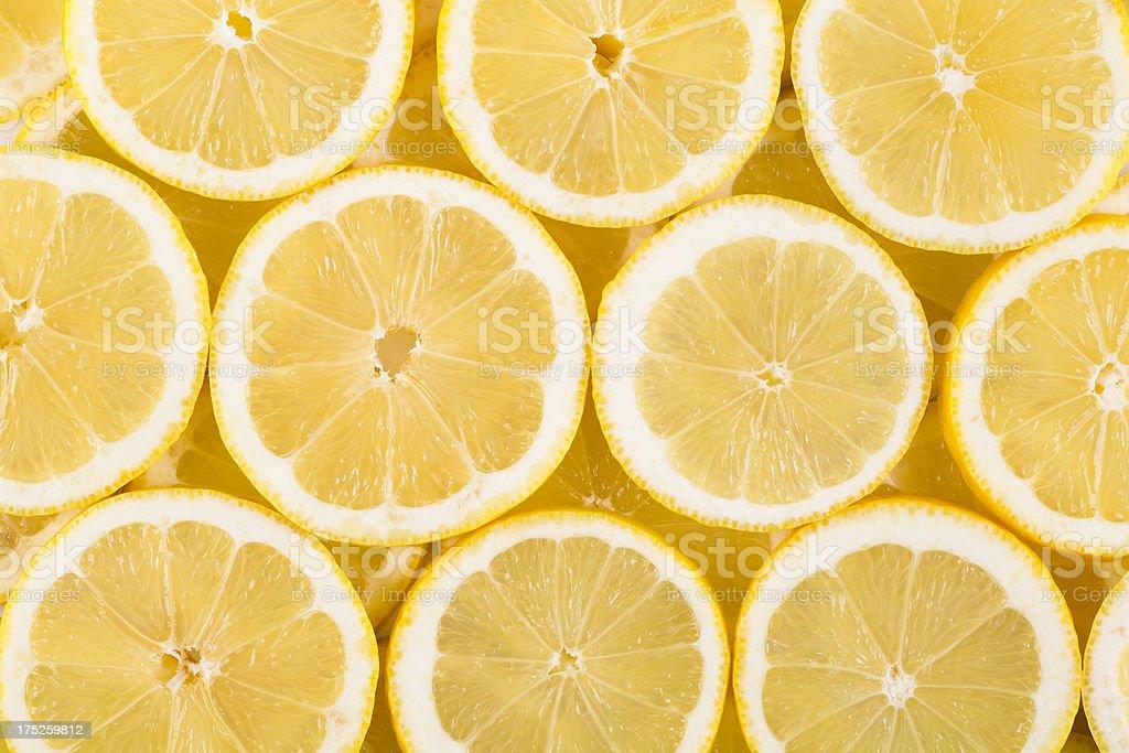 sliced lemons royalty-free stock photo