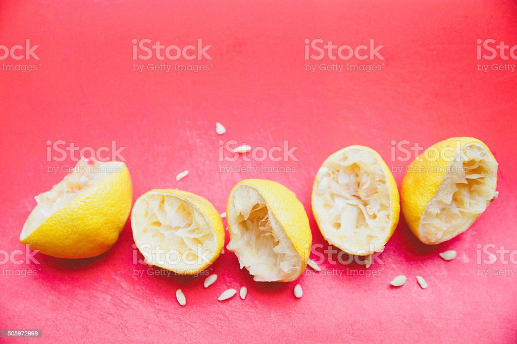 Sliced Lemons stock photo