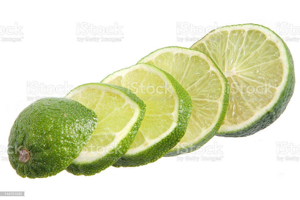 Sliced Lime royalty-free stock photo