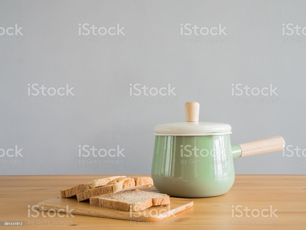 Sliced loaf bread. stock photo