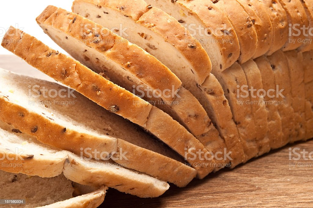 Sliced Loaf of Wholegrain bread stock photo