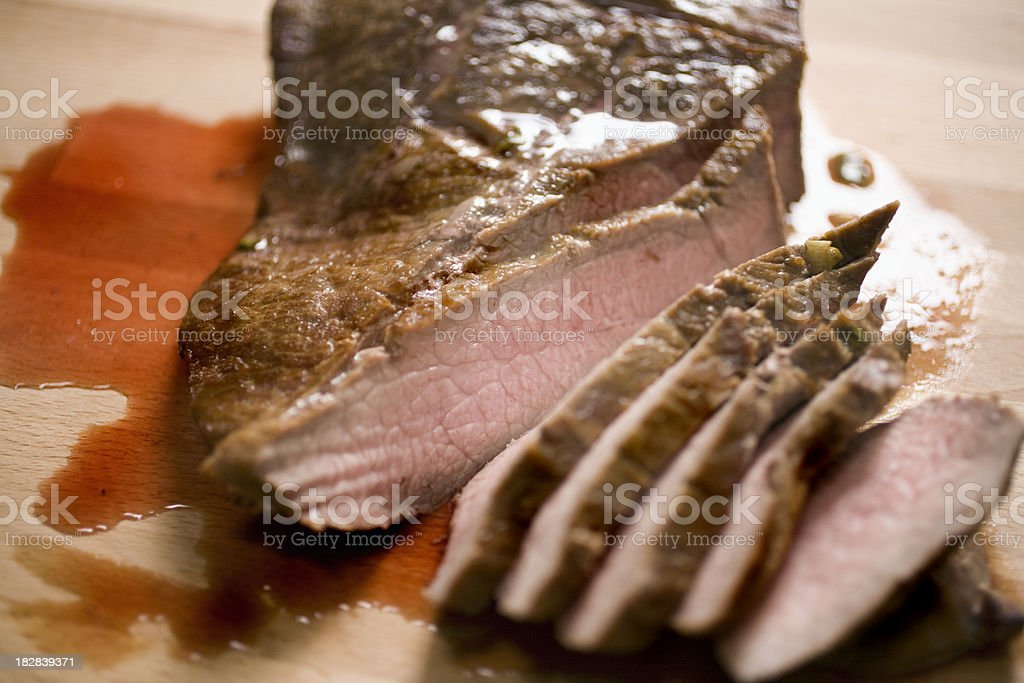Sliced London Broil royalty-free stock photo