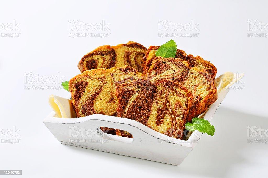 sliced marble cake royalty-free stock photo