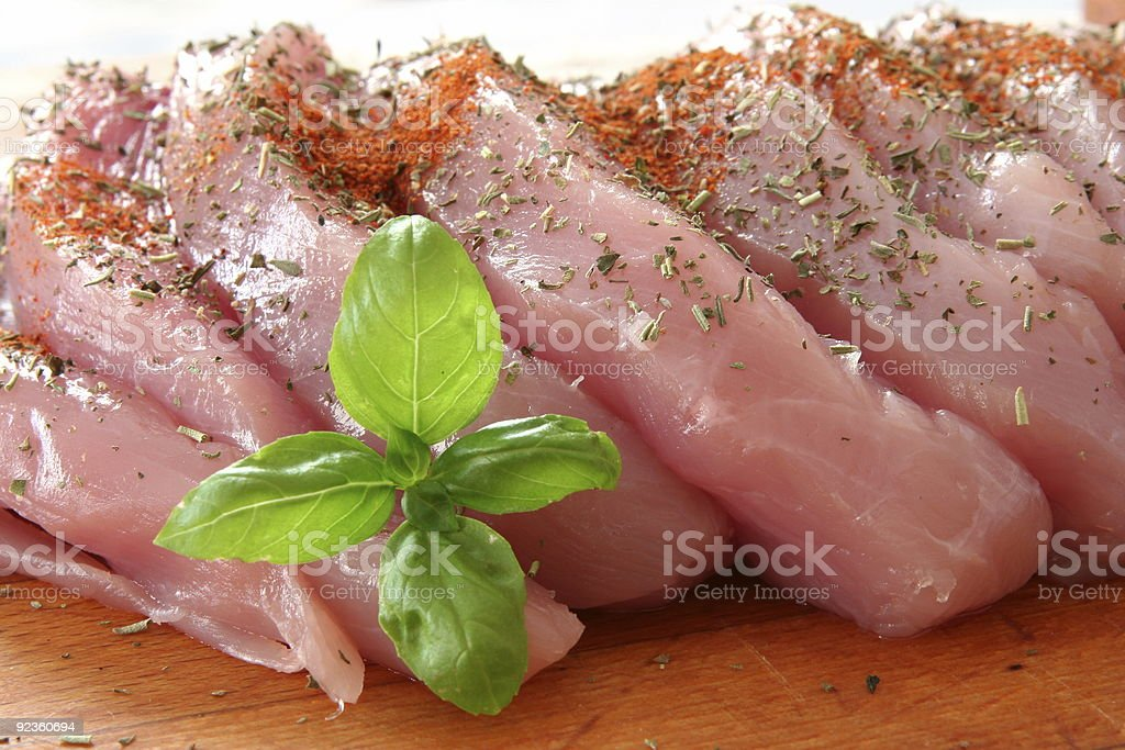 sliced meat royalty-free stock photo