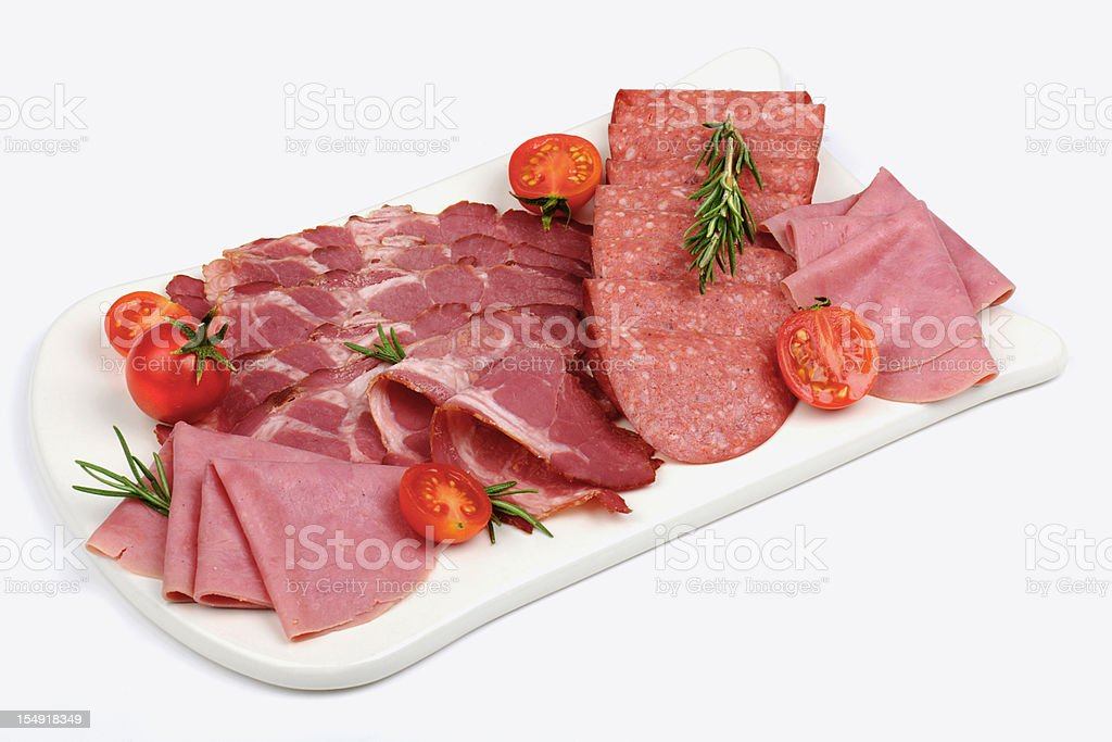 Sliced Meats stock photo