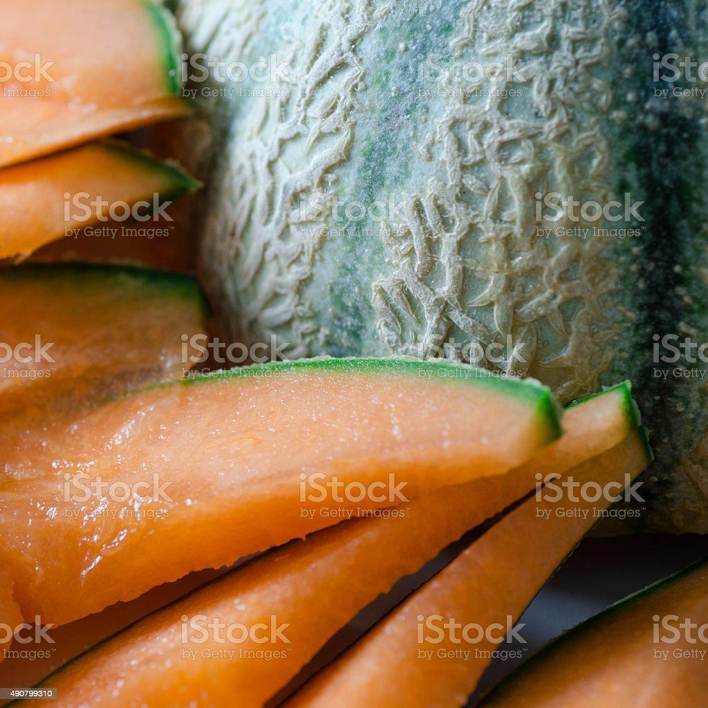 Sliced Melon stock photo
