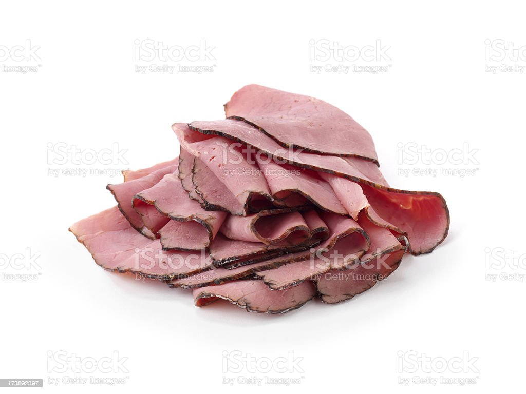 Sliced Montreal Smoked Meat royalty-free stock photo