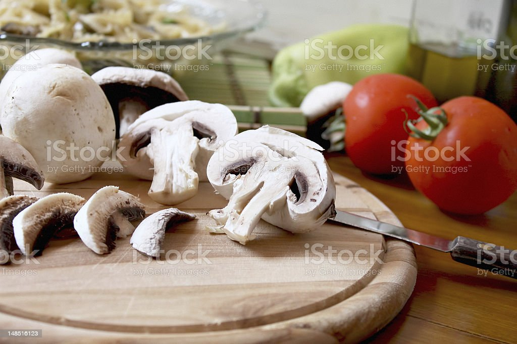 sliced mushrooms royalty-free stock photo