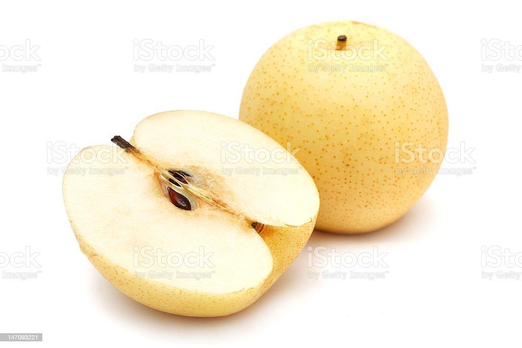 Sliced Nashi Pears stock photo