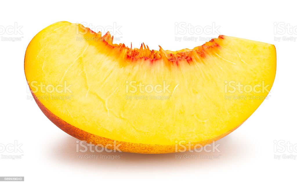 sliced nectarine stock photo
