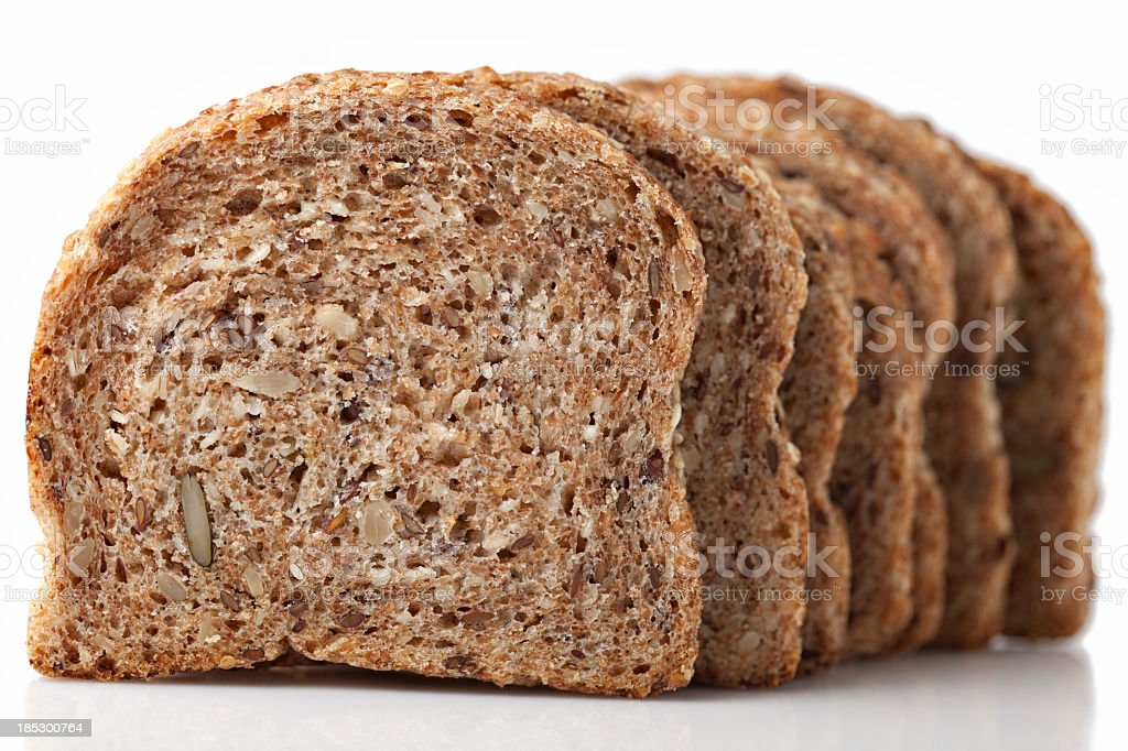 Sliced of bread stock photo