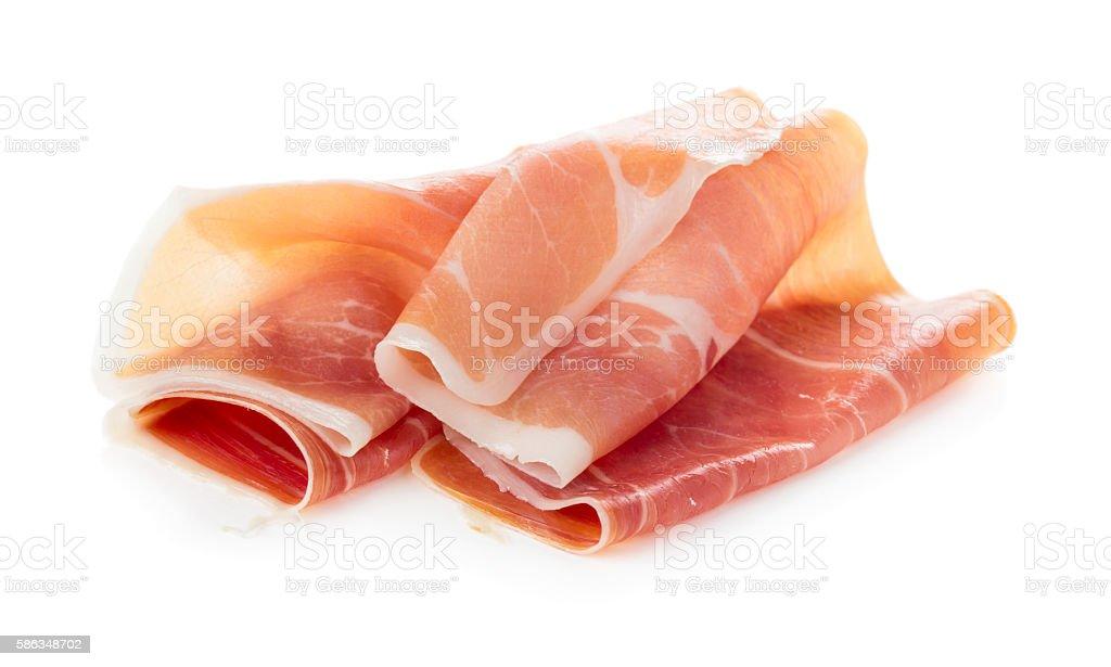 Sliced of jamon stock photo