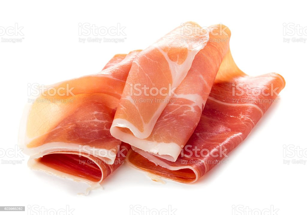 Sliced of jamon stock photo