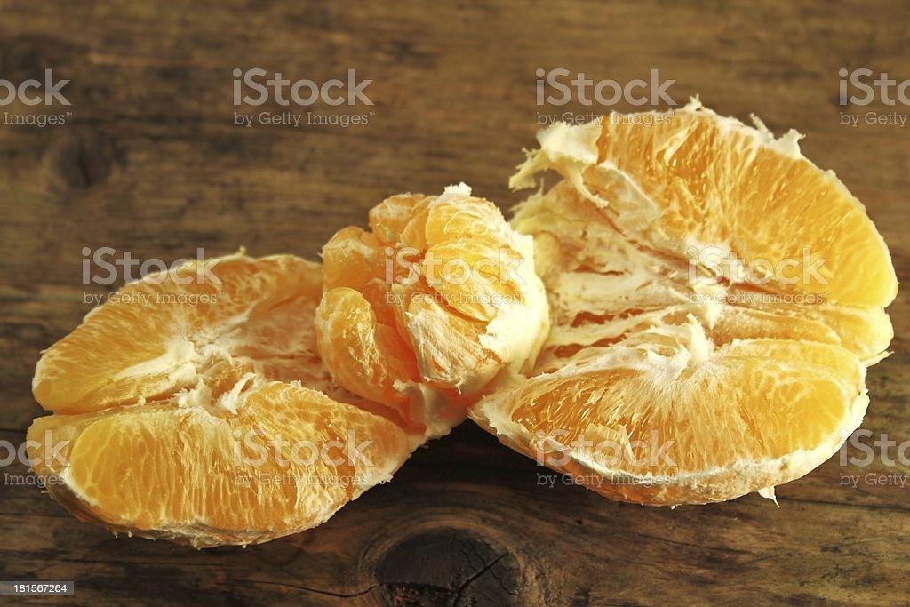 sliced orange fruit stock photo
