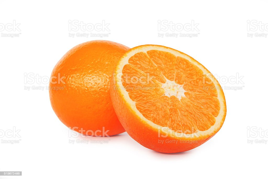 Sliced orange stock photo