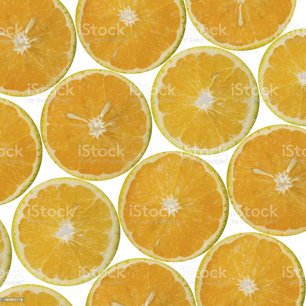 Sliced oranges pattern stock photo