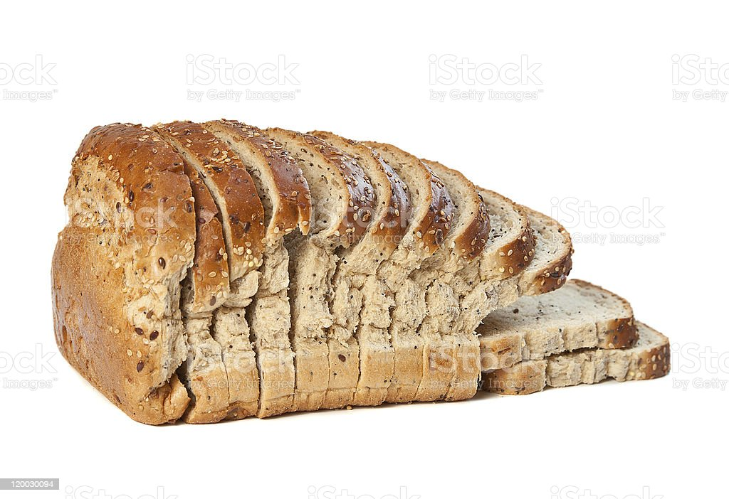 Sliced Organic Wholemeal Loaf royalty-free stock photo