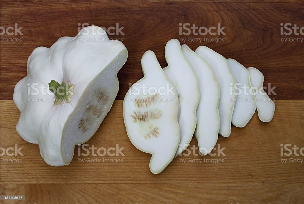 Sliced Pattypan Squash royalty-free stock photo