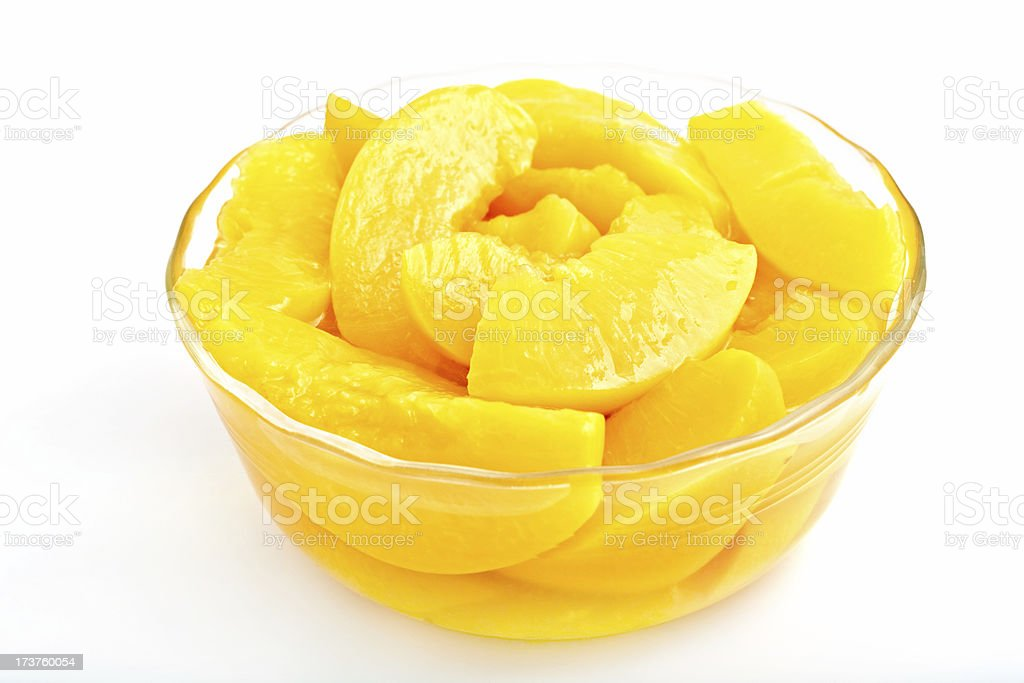 Sliced Peaches in Syrup royalty-free stock photo