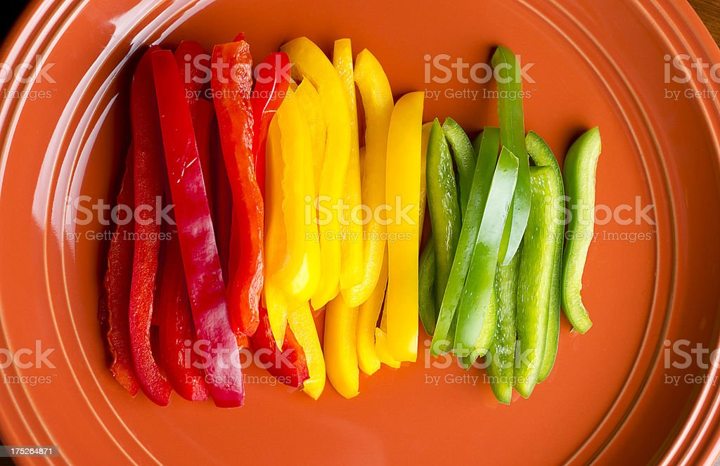 Sliced Peppers royalty-free stock photo