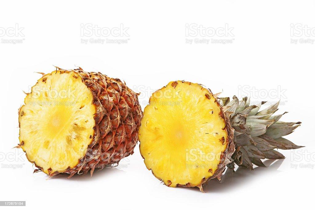 sliced pineapple stock photo