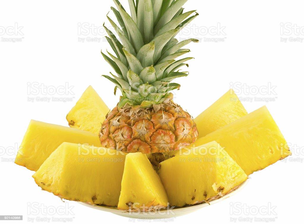 sliced pineapple royalty-free stock photo