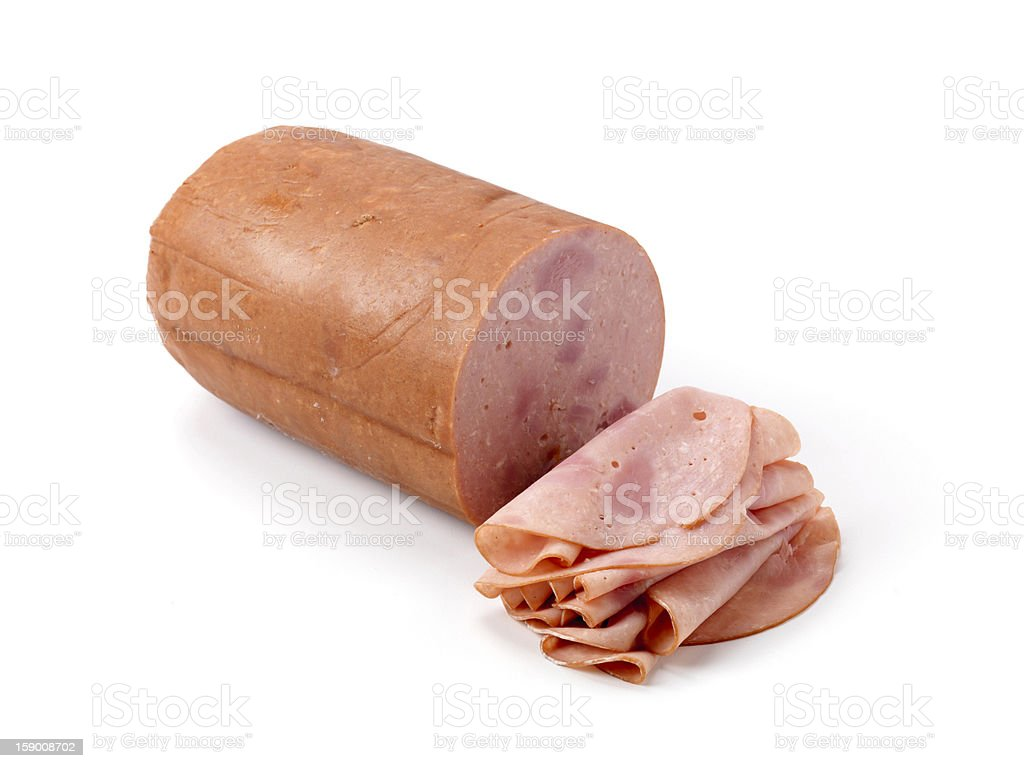 Sliced Pizza Ham Loaf stock photo