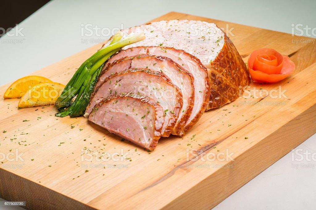 Sliced Pork Ham stock photo