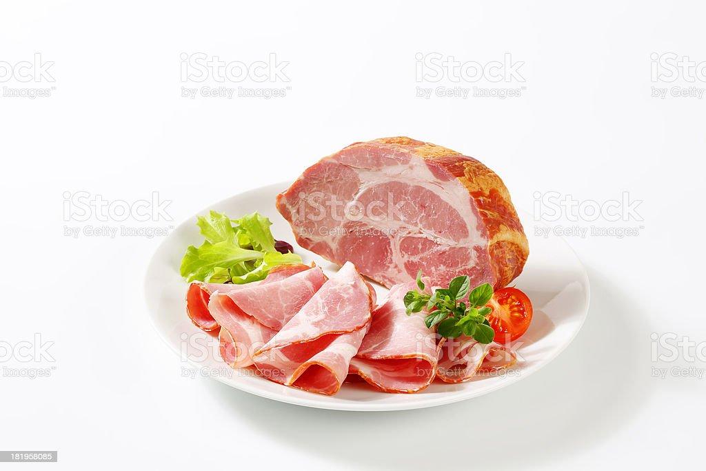 sliced pork meat royalty-free stock photo
