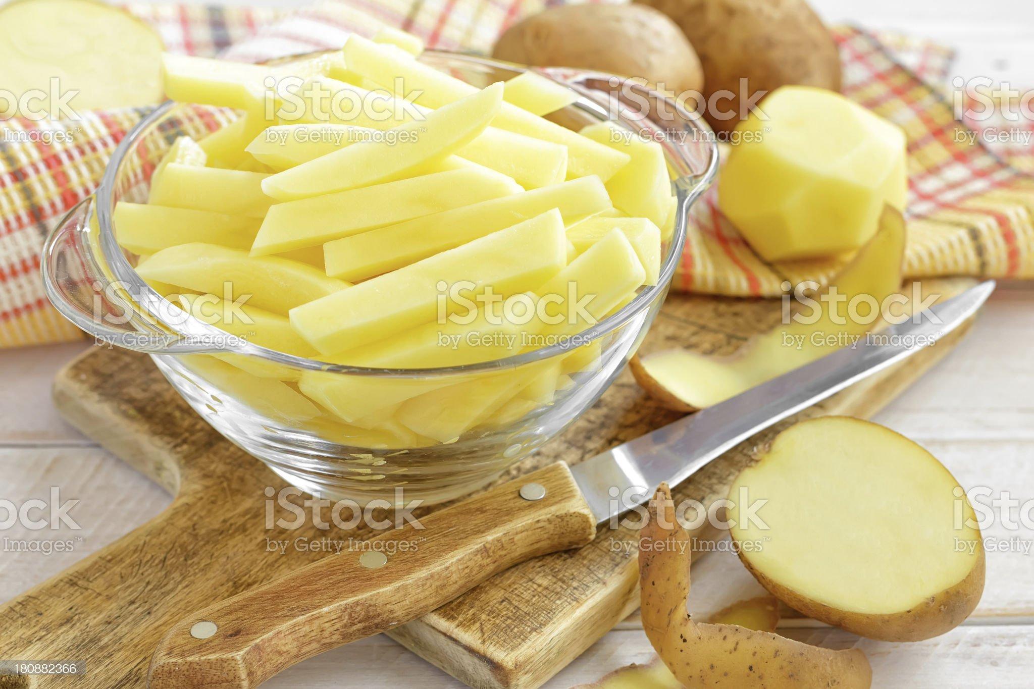 Sliced potato royalty-free stock photo