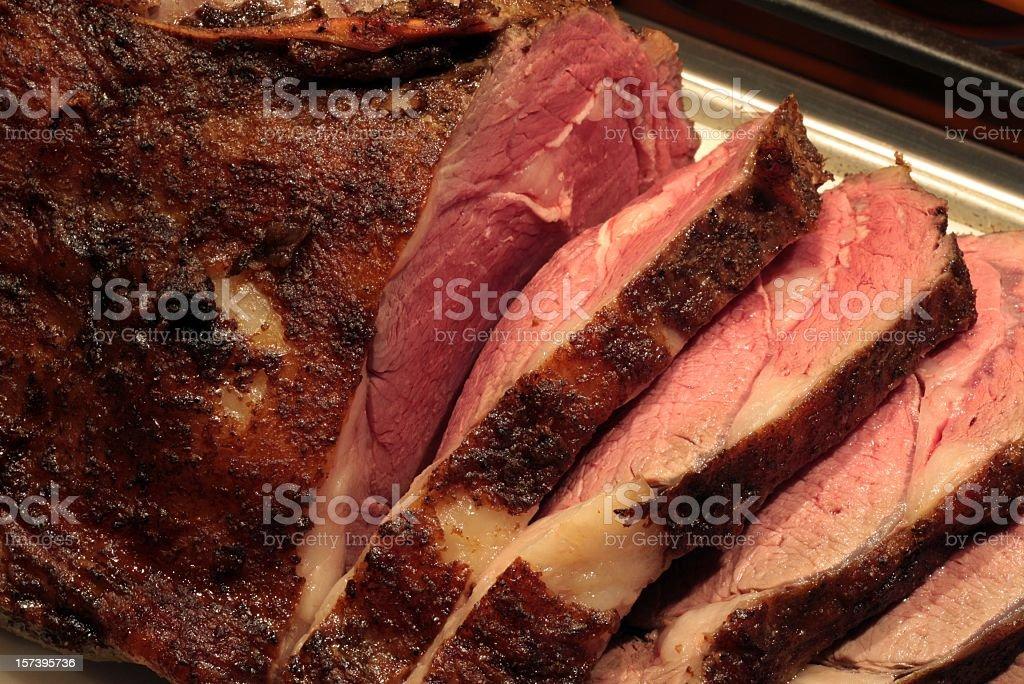Sliced Prime Rib stock photo