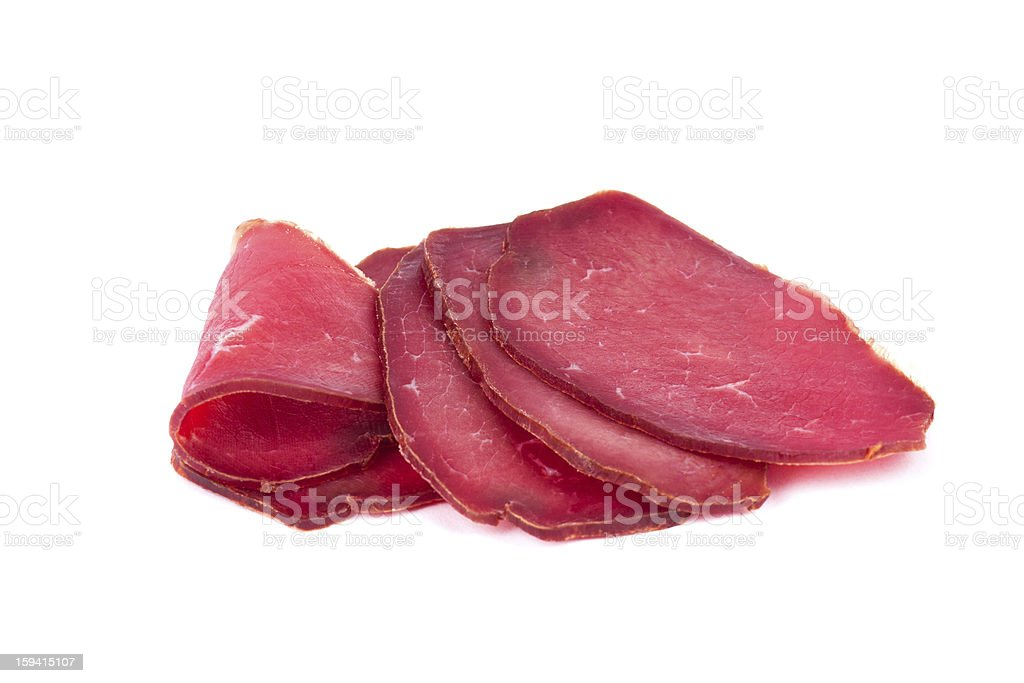 Sliced Prosciutto royalty-free stock photo