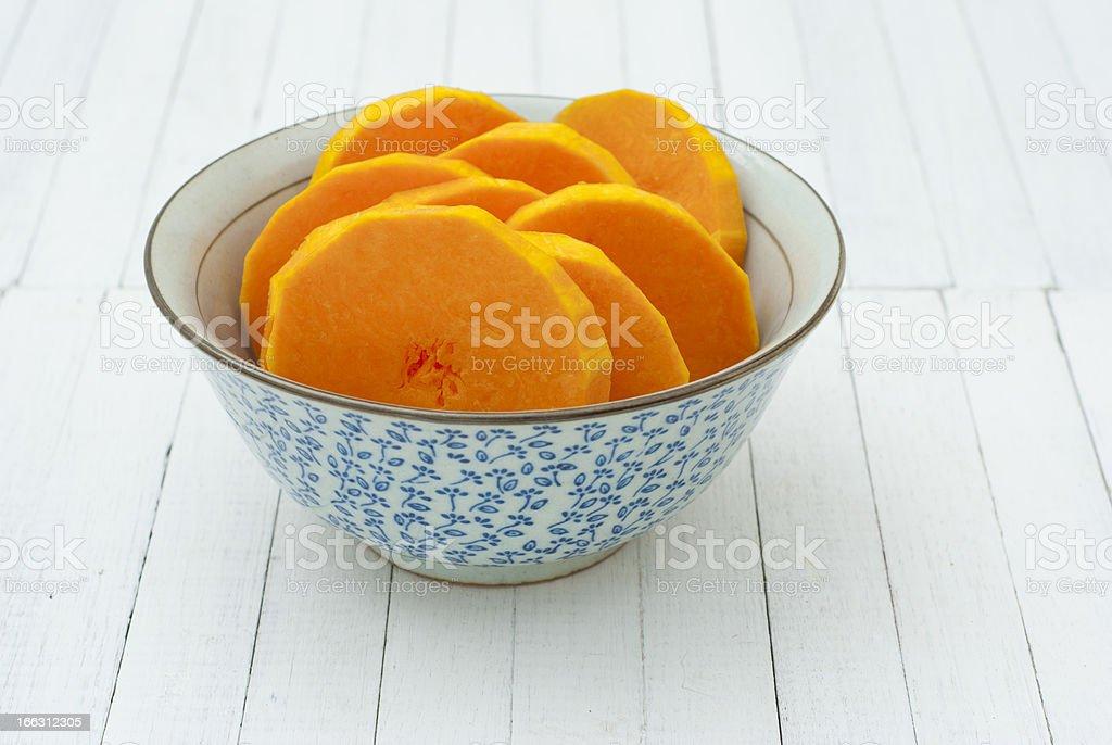 Sliced pumpkins royalty-free stock photo