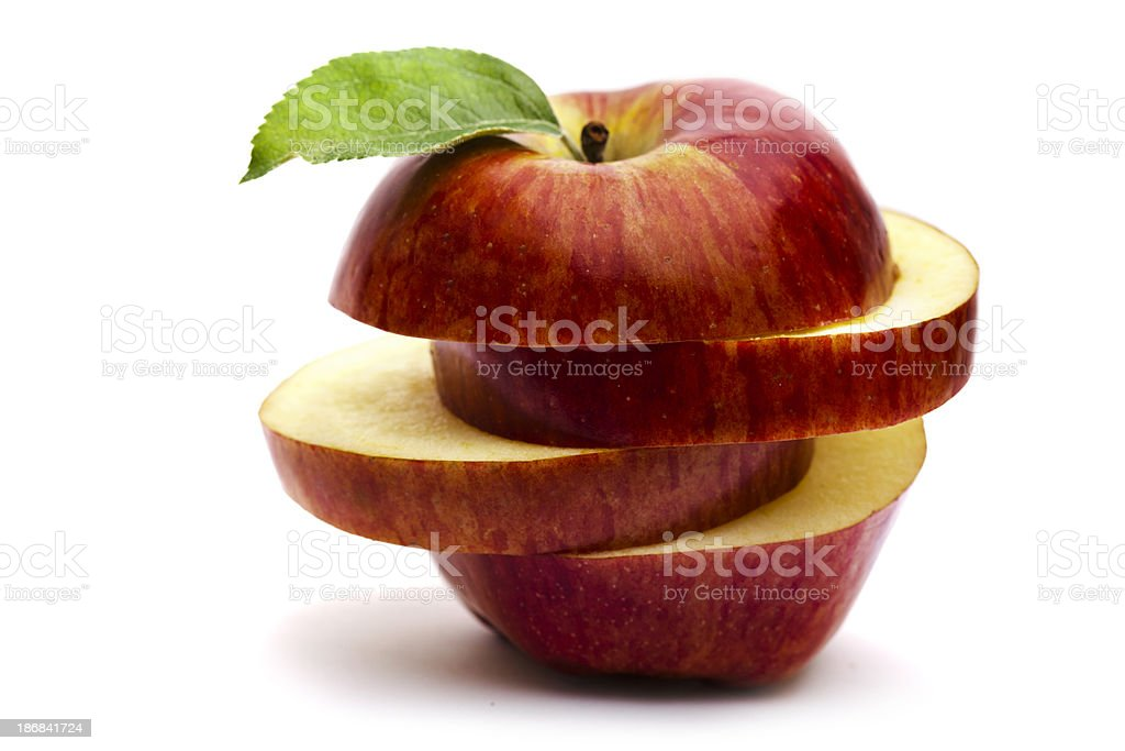 Sliced Red Apple royalty-free stock photo