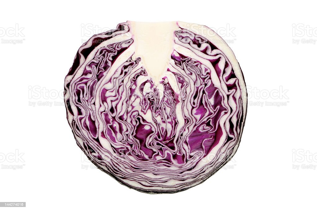 Sliced Red Cabbage royalty-free stock photo