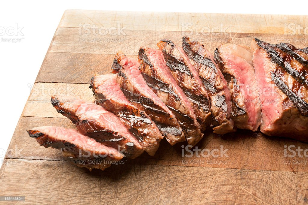 Sliced Ribeye Steak royalty-free stock photo