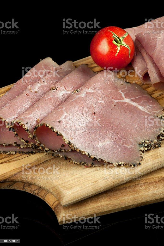 Sliced Roast Beef royalty-free stock photo