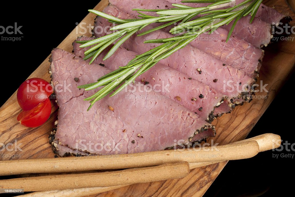 Sliced Roast Beef stock photo