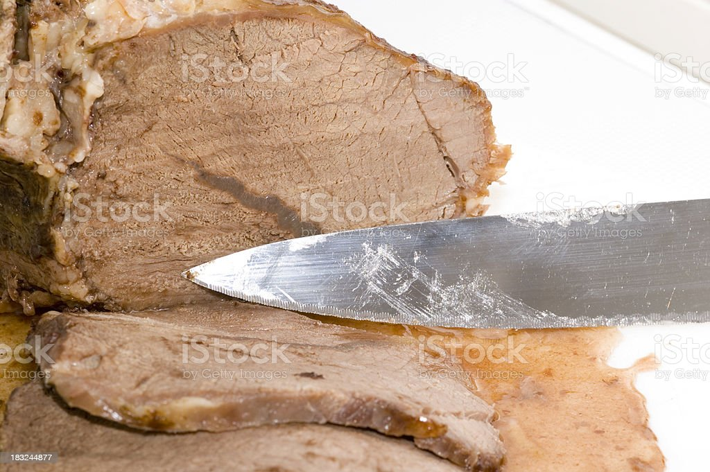 Sliced Roast stock photo