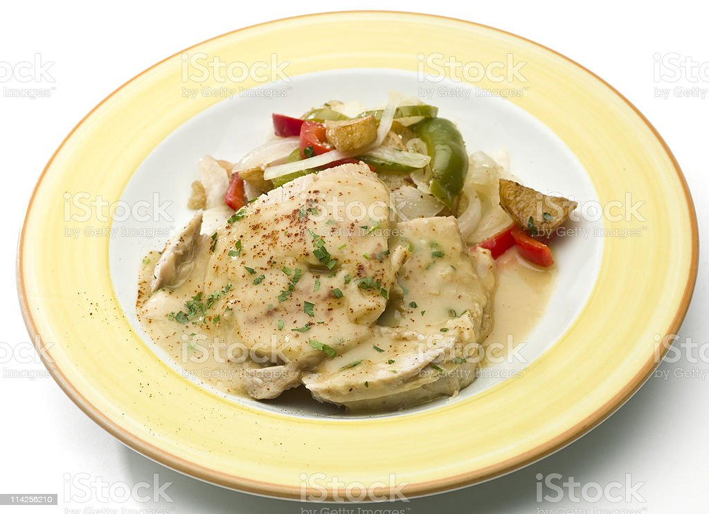 Sliced Roasted Turkey Breast and Gravy stock photo