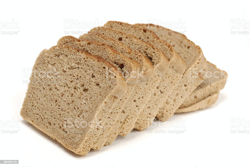 Sliced Russian bread isolated over white background royalty-free stock photo