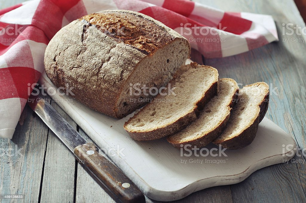 Sliced rye bread stock photo