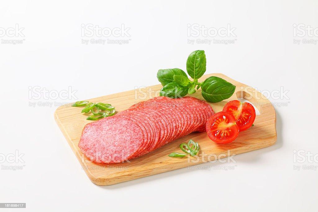 sliced salami royalty-free stock photo