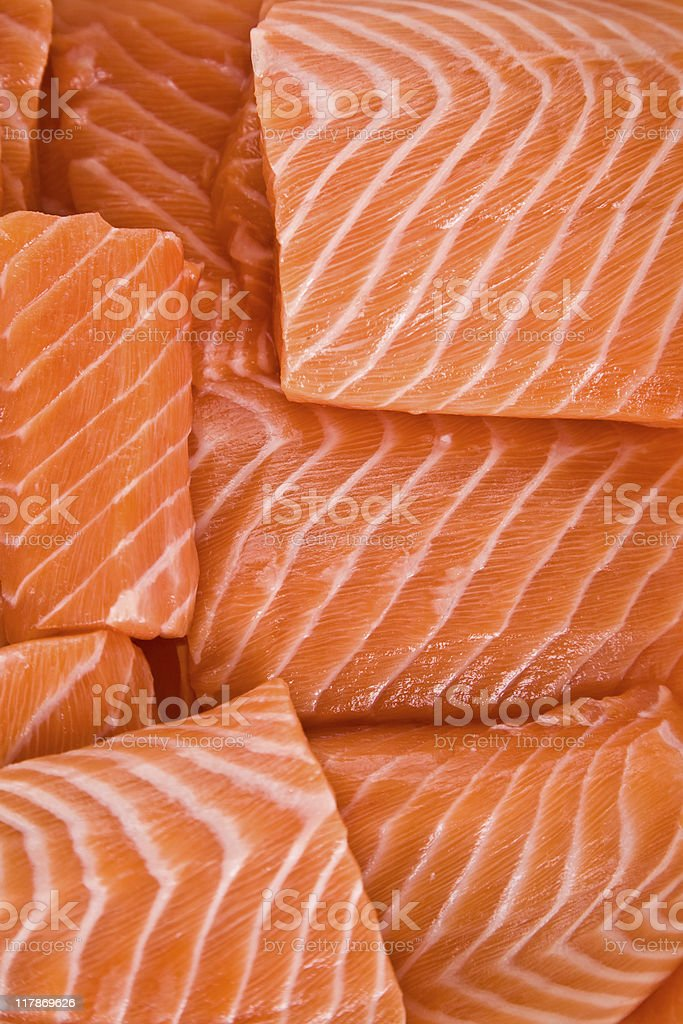 Sliced  Salmon royalty-free stock photo