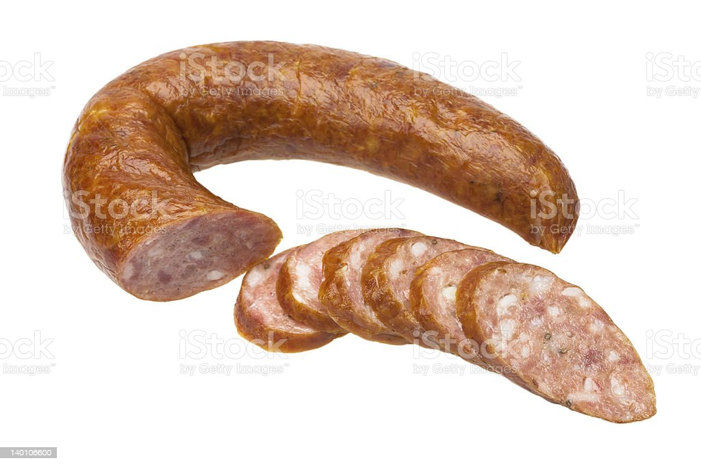 Sliced sausage. royalty-free stock photo